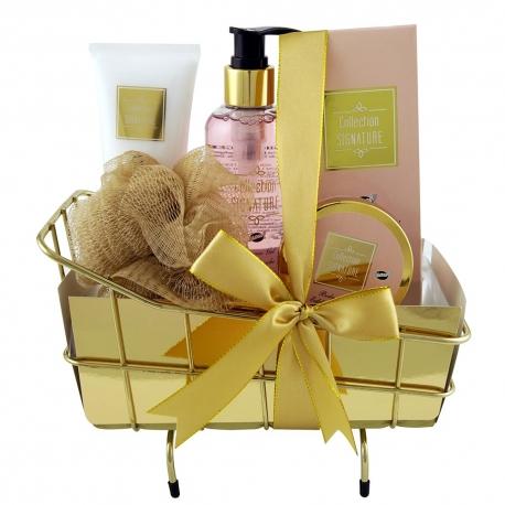 Coffret de bain au parfum de karité,vanille et menthe - 5pcs