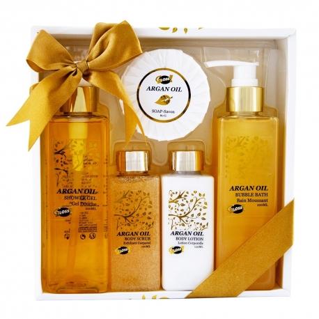 Coffret beauté de bain - Luxury - Huile Argan - Idée cadeau