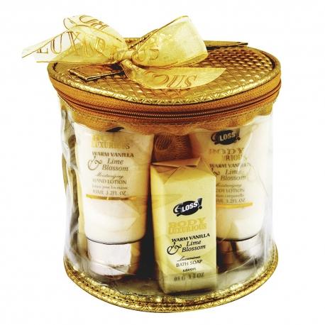 Trousse de Bain à la Vanille et Tilleul avec crème pour les mains