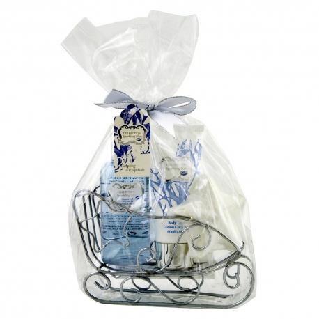 Coffret de bain Noël parfum léger de fleurs de coton - 3pcs
