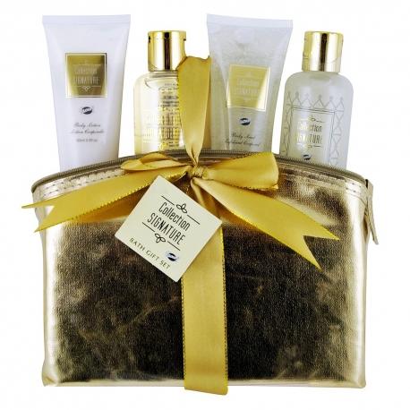 Coffret de bain parfum épicé vanille et gingembre - 4pcs