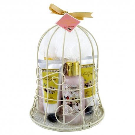 Coffret de bain parfum fleur de pivoine et patchouli - 7pcs