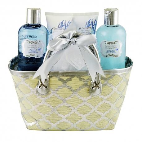 Coffret de bain parfum léger de fleurs de coton - 5pcs
