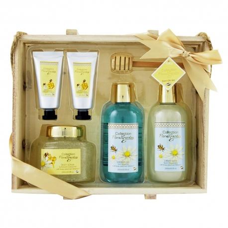 Coffret de bain parfum gourmand des amandes au miel - 6pcs