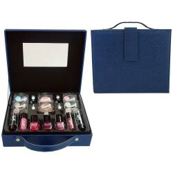 Mallette de maquillage Fashion Week bleu - 27pcs