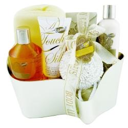 Coffret de bain frais au parfum vanille et tilleul - 6pcs
