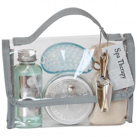Coffret de bain pour femme - Mini cartable de bain - Eucalyptus