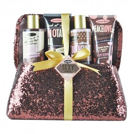 Pochette cadeau de bain pailletée à la Vanille & Nectarine blanche
