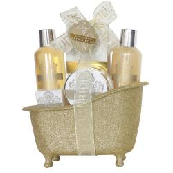 Baignoire de bain paillettée - Collection Indulge me gold - 5 pcs