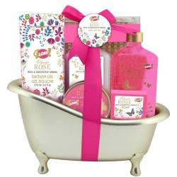 Coffret beauté de bain - Baignoire dorée - Collection Gold à la Rose