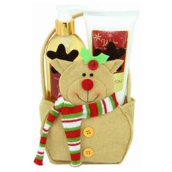 Gloss - Coffret De Bain Pour Femme - Renne du Père Noël - Collection Winter - Spécial Noël - Mûre