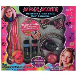 Coffret cadeau enfant pour cheveux avec 2 craies et 3 serre-tête