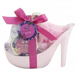 Coffret de bain format chaussure - Floral Fusion - Lys et Freesia