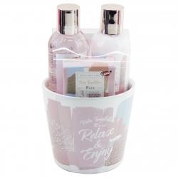 """Coffret cadeau de bain -Bol """"Relax & Enjoy"""" - Idée cadeau original"""