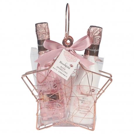 Coffret de bain pour femme en forme d' Etoile métallique - Rose