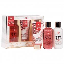 Coffret de bain à la grenade - Collection Sakura Spa - Idée cadeau
