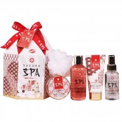 Coffret cadeau beauté - Set de bain - Grenade - Collection Sakura Spa
