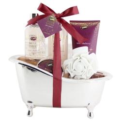 Coffret de bain - Baignoire de bain rose cuivrée - Mûre