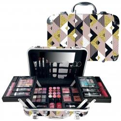 Mallette de maquillage XXXL avec accessoires de manucure - Modern Glam