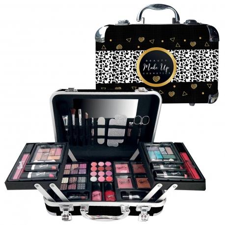 Mallette de maquillage XXXL incluant vernis - Black & Gold