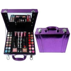 Mallette de Maquillage viollette avec des ampoules décoratives