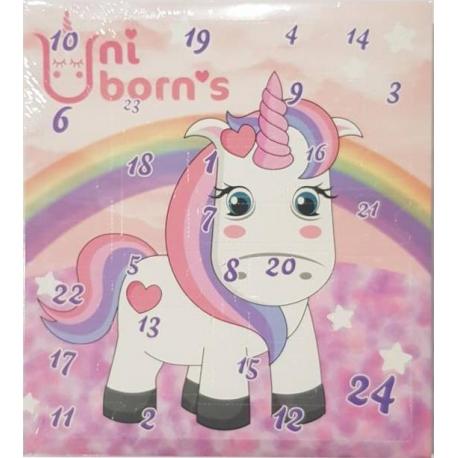 Calendrier de l'avent Unicorn 24 jours beauté - accessoires cheveux