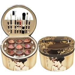 Mallette de maquillage Vintage marron - 36pcs
