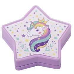 Palette de maquillage enfant - Collection étoiles et licornes