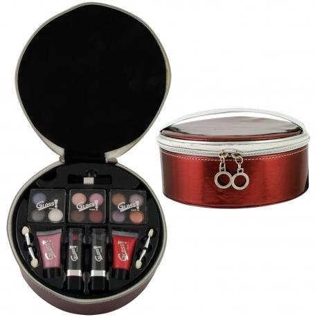 Mallette de maquillage Luxurious rouge - 19pcs