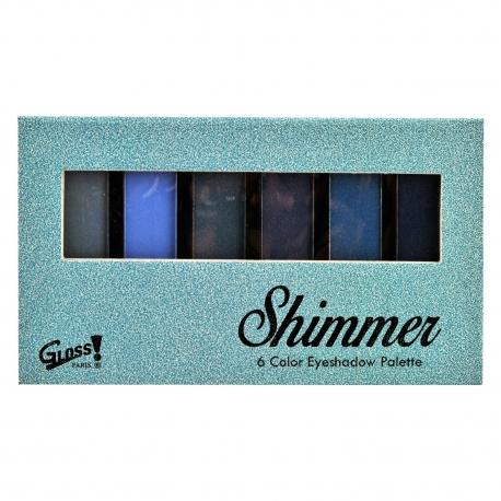 Palette de maquillage - Ombres à paupières couleurs camaïeu de bleu