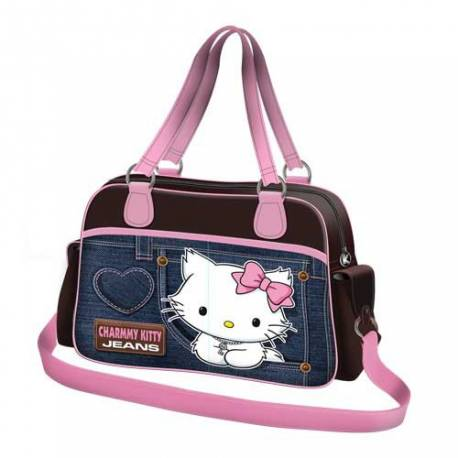 Hello Kitty Sac à main avec bandoulière denim bleu