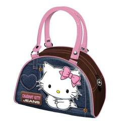 Hello Kitty Sac à main bowling denim bleu