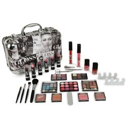 Gloss - Mallette de maquillage XXXL incluant 4 vernis - Design Beauty Tendance - Idée cadeau Beauté