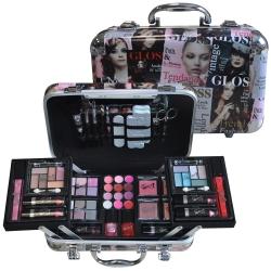 Gloss - Mallette de maquillage XXXL incluant 4 vernis - Design Beauty Tendance Color - Idée cadeau beauté