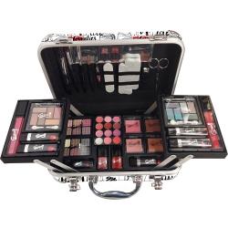 Mallette de maquillage XXXL avec 4 vernis - Design Love - Idée cadeau