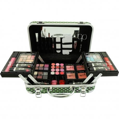 Mallette de maquillage XXXL avec 4 vernis - Pretty Vintage Beauté