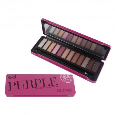 Palette de maquillage Purple Nude violet - 25pcs