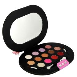 Palette de maquillage compacte noir - 16pcs