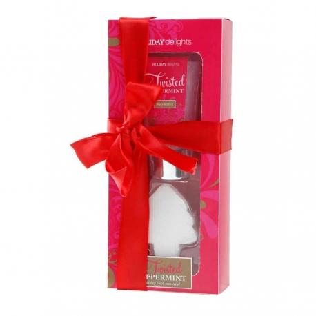 Coffret de bain frais au parfum de menthe poivrée - 2pcs