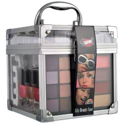 Mallette de maquillage City beauty Case gris - 36pcs