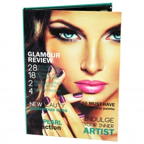 Palette de maquillage Glam Review vert - 54pcs