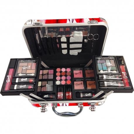 Gloss - Mallette de maquillage XXXL incluant 4 vernis - Design Top Model - Idée cadeau beauté