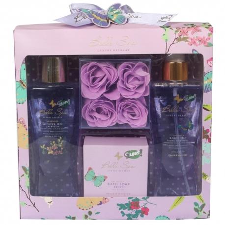Coffret de bain relaxant au doux parfum de lavande - 8pcs