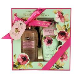 Coffret de bain revitalisant à la rose - 2pcs