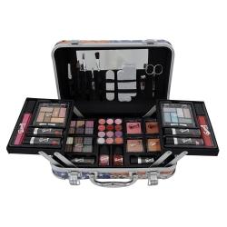 Mallette de maquillage XXXL avec 4 vernis - Design USA Fashion Victim