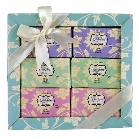 Coffret de bain au parfum magnolia, cerisier, lavande - 6pcs