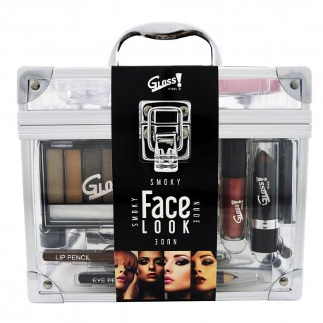 Mallette de maquillage transparente XXL - vernis à ongles & stickers