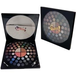 Palette de maquillage Cadran Rond noir - 58pcs