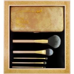 Set de pinceaux de maquillage avec étui de rangement - 6pcs